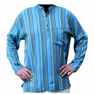 CAMICIA MANICA LUNGA RIGHINA CON BOTTONI