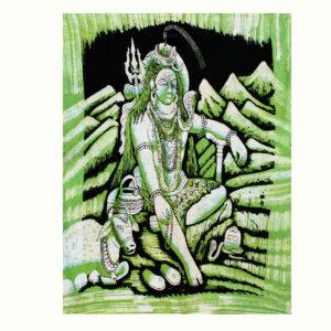 BATIK INDIANI CON DIVINITA'  ( CM 110 x 90 )