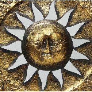SOLE ORO CON RAGGI E SPECCHIETTI CM 30