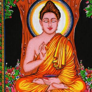 BATIK INDIANO CON PAILETTES BUDDHA