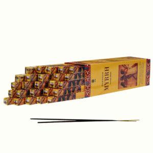 INCENSI  MIRRA (marche assortite) (25 p. quadrati. X 8 sticks )