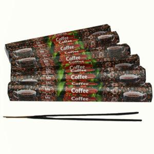 INCENSI  CAFFE' (marche assortite) ( 6 p. esag. X 20 sticks )