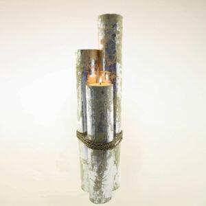 CANDELE IN BAMBOO GIGANTI (SET 3 PZ CM 60-80-100)
