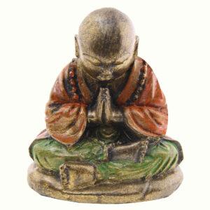 BUDDHA IN RESINA DIPINTA BAMBINO CM 10