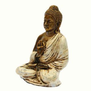 BUDDHA IN RESINA DIPINTA MANO OM CM 12