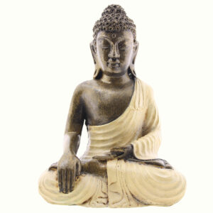 BUDDHA IN RESINA DIPINTA MEDITAZIONE CM 20