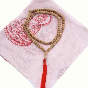 COLLANA MALA BUDDHISTA IN SANDALO
